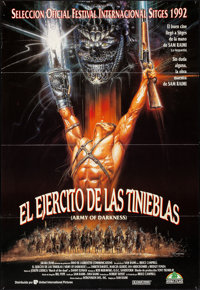 "Army of Darkness (Universal, 1992). Folded, Very Fine-. Spanish One Sheet (27"" X 39""). Renato Casaro Artwork..."