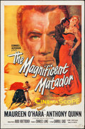 Movie Posters:Romance, The Magnificent Matador (20th Century Fox, 1955). Folded, ...