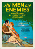 "Movie Posters:Drama, All Men Are Enemies (Fox, 1934). Fine/Very Fine on Linen. One Sheet(27"" X 41"") Style B. Drama.. ..."