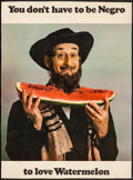 Movie Posters:Miscellaneous, You Don't Have to be Negro to Love Watermelon (c.1967). Ro...