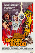 "Movie Posters:Horror, Baron Blood & Other Lot (American International, 1972). Folded, Fine/Very Fine. One Sheets (2) (27"" X 41""). Horror.. ... (Total: 2 Items)"