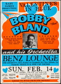 """Movie Posters:Rock and Roll, Bobby """"Blue"""" Bland (1980s). Folded, Fine/Very Fine. Jumbo WindowCards (2) (22"""" X 30.5"""" & 22"""" X 30.75""""). Rock and Roll.. ...(Total: 2 Items)"""