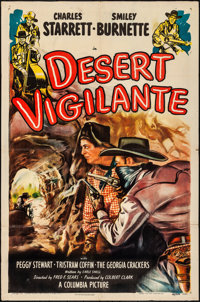 """Desert Vigilante & Other Lot (Columbia, 1949). Folded, Overall: Fine/Very Fine. One Sheets (2) (27"""" X 41"""")..."""