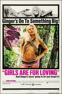 """Girls are for Loving & Other Lot (Continental, 1973). Folded, Fine+. One Sheets (2) (27"""" X 41""""). Sexploita..."""