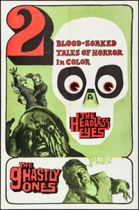 The Headless Eyes/The Ghastly Ones Combo (William Mishkin Motion Pictures Inc., R-1970s). Folded, Very Fine-. One Sheet...