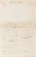 """Books:Manuscripts, Henri Matisse. Autograph Manuscript Signed. """"Henri Matisse."""" Fifteen pages [rectos only] in French, entitled """"Notes d'..."""