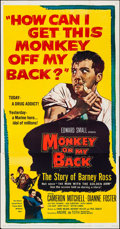 "Movie Posters:Exploitation, Monkey on My Back (United Artists, 1957). Folded, Fine/Very Fine.Three Sheet (41"" X 79.25""). Exploitation.. ..."