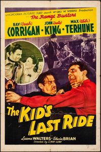 """The Kid's Last Ride & Other Lot (Monogram, 1941). Folded and on Linen, Fine-. One Sheets (3) (27"""" X 41""""..."""