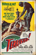 Movie Posters:Horror, Terrified & Other Lot (Crown International, 1963). Folded,...