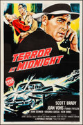 Movie Posters:Crime, Terror at Midnight & Other Lot (Republic, 1956). Folded, O...