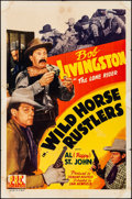 Movie Posters:Western, Wild Horse Rustlers & Other Lot (PRC, 1943). Folded, Fine+...