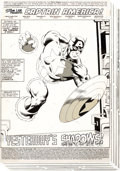 "Original Comic Art:Complete Story, Mike Zeck and John Beatty Captain America #275 Complete 22-Page Story ""Yesterday's Shadows!"" Original Art (Marvel,..."