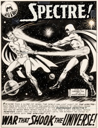 "Murphy Anderson Showcase #60 The Spectre Part 1 ""War That Shook the Universe!"" Original Art Group of 8 Consecu..."