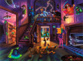 "Animation Art:Poster, ""Scooby-Doo-Haunted House"" Limited Edition Fine Art Giclee Print#246/250 (Hanna-Barbera/Clampett Studio, 2002).... (Total: 2 Items)"