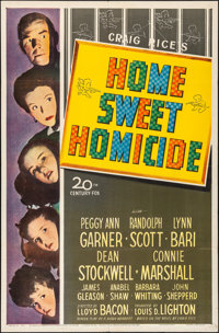 "Home Sweet Homicide (20th Century Fox, 1945). Folded, Very Fine-. One Sheet (27"" X 41""). Comedy"
