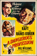 Movie Posters:Crime, A Dangerous Profession (RKO, 1949). Fine/Very Fine on Line...