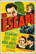"""Movie Posters:Crime, The Escape (20th Century Fox, 1939). Fine/Very Fine on Linen. One Sheet (27.25"""" X 41""""). Crime. From the Collection of Fran..."""