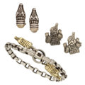Estate Jewelry:Suites, Cat's-Eye Moonstone, Gold, Sterling Silver Jewelry,Kieselstein-Cord . ... (Total: 3 Items)