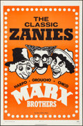 Movie Posters:Comedy, Marx Brothers: The Classic Zanies (MGM, 1971). Folded, Ver...