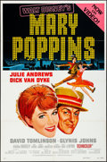 "Movie Posters:Fantasy, Mary Poppins (Buena Vista, R-1980). Folded, Very Fine-. One Sheet(27"" X 41"") Style A, Paul Wenzel Artwork. Fantasy.. ..."