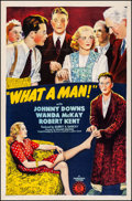 Movie Posters:Comedy, What a Man! (Monogram, 1944). Fine/Very Fine on Linen....