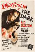 Movie Posters:Comedy, Whistling in the Dark (MGM, 1941). Fine/Very Fine on Linen...