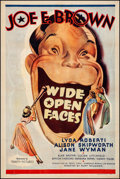 "Movie Posters:Comedy, Wide Open Faces (Trinity Pictures, R-1945). Fine/Very Fine onLinen. One Sheet (27"" X 41""). Comedy. From the Collectionof..."