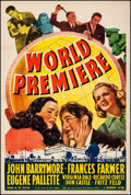 """Movie Posters:Comedy, World Premiere (Paramount, 1941). Fine+ on Linen. One Sheet (27"""" X41""""). Comedy. From the Collection of Frank Buxton, of w..."""