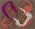 Works on Paper:Drawing, Rolph Scarlett (Canadian/American, 1889-1984). Untitled (Pink and Purple Forms). Pastel and gouache on paper. 16-1/8 x 1...