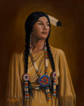 Paintings:Contemporary   (1950 to present), Don Yandell (American, 20th Century). Indian Maiden. Oil on canvas. 30-1/2 x 24 inches (77.5 x 61.0 cm). Signed lower le...