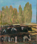 Paintings:Contemporary, Jan Rauchwerger (Israeli, b. 1942). On the Farm, 1998. Oil on canvas. 35-1/2 x 29-1/2 inches (90.2 x 74.9 cm). Signed an...