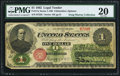 Large Size:Legal Tender Notes, Fr. 17a $1 1862 Legal Tender PMG Very Fine 20.. ...