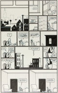 Original Comic Art:Panel Pages, Chris Ware Acme Novelty Library n°8 « Jimmy Corrigan : Smack » Originaux des pages 4-5 (Fantagraphics, 1996)....