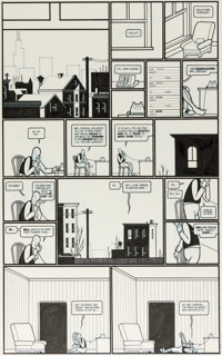 Chris Ware Acme Novelty Library n°8 « Jimmy Corrigan : Smack » Originaux des pages 4-5 (Fantagraphics, 1...