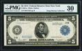 Fr. 851a $5 1914 Federal Reserve Note PMG Very Fine 30