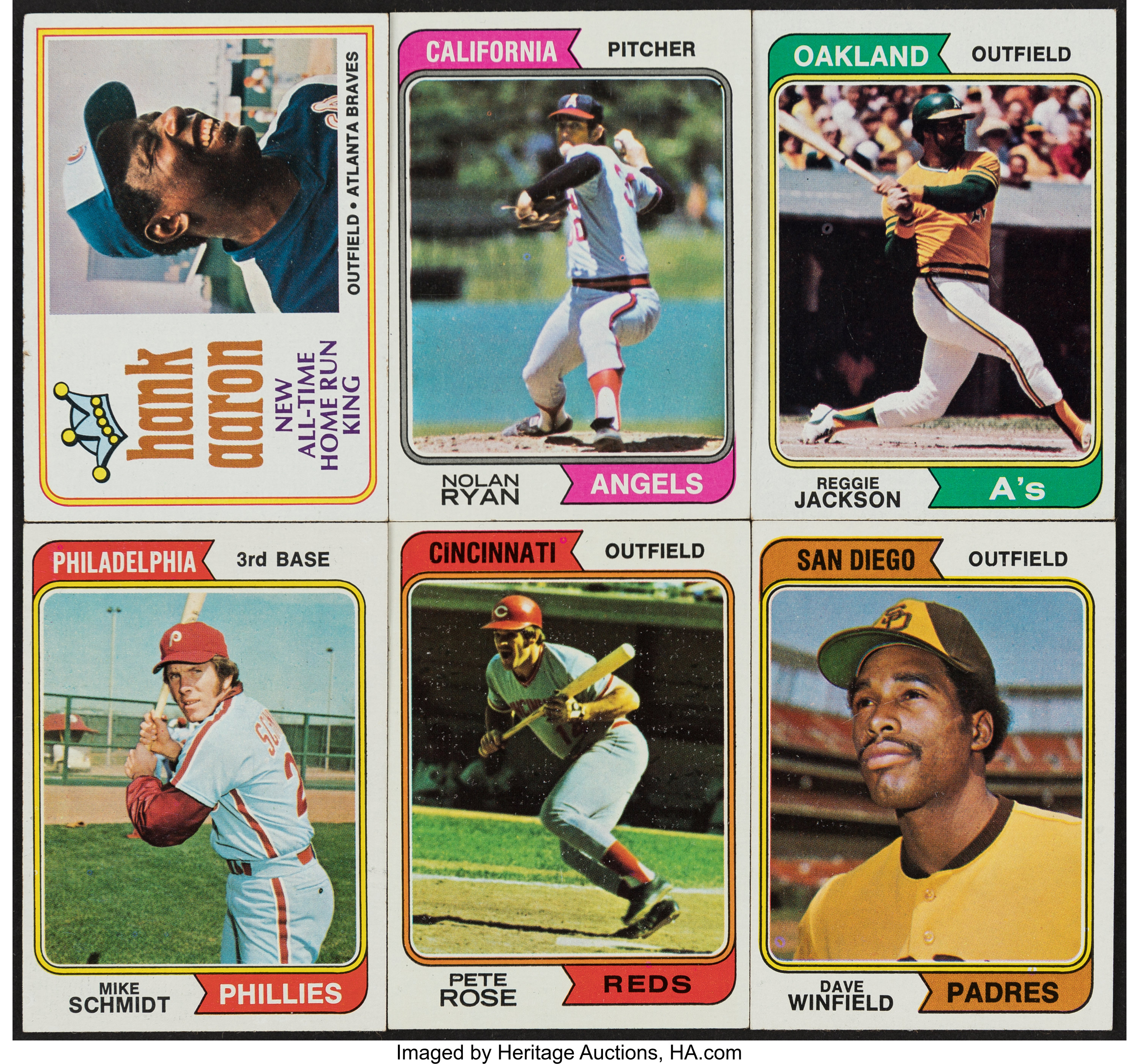 1974 Topps Baseball Complete Set 660 With Traded Set 44