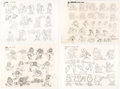 animation art:Model Sheet, Raggedy Ann and Andy: A Musical Adventure Studio Model Sheets Group of 4 (Fox, 1977)....