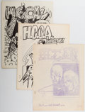 Memorabilia:Fanzines, Houston Comic Collectors Association-Related Fanzines and Poster Group of 7 (HCCA, 1968) Condition: Average FN.... (Total: 7 Items)