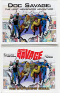 Books:General, Doc Savage: The Lost Newspaper Adventure Group of 2 (Ron Frenz/Bob McLeod, ca. 2010)....