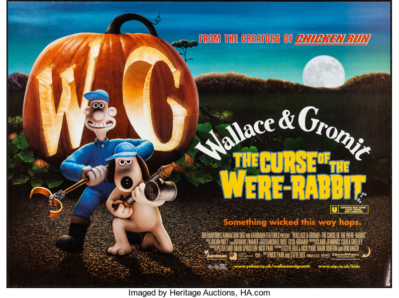 The Curse Of The Were Rabbit Dreamworks 2005 Rolled Very Fine Lot 52098 Heritage Auctions