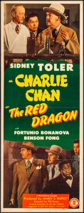 "Movie Posters:Mystery, The Red Dragon (Monogram, 1945). Folded, Very Fine-. Insert (14"" X36""). Mystery.. ..."