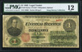 Large Size:Legal Tender Notes, Fr. 16 $1 1862 Legal Tender PMG Fine 12.. ...