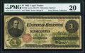 Large Size:Legal Tender Notes, Fr. 16b $1 1862 Legal Tender PMG Very Fine 20.. ...
