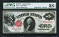 Large Size:Legal Tender Notes, Fr. 37 $1 1917 Legal Tender PMG Choice About Unc 58 EPQ.. ...