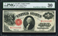 Large Size:Legal Tender Notes, Fr. 38* $1 1917 Legal Tender PMG Very Fine 30.. ...