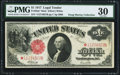 Large Size:Legal Tender Notes, Fr. 38m* $1 1917 Mule Legal Tender PMG Very Fine 30.. ...