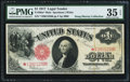 Large Size:Legal Tender Notes, Fr. 39m* $1 1917 Mule Legal Tender PMG Choice Very Fine 35 EPQ.. ...