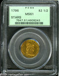 Early Quarter Eagles: , 1796 $2 1/2 Stars MS61 PCGS....