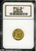Early Quarter Eagles: , 1802 $2 1/2 AU58 NGC....