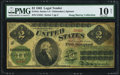 Large Size:Legal Tender Notes, Fr. 41c $2 1862 Legal Tender PMG Very Good 10 Net.. ...